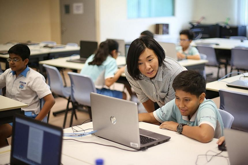 Ms Charmaine Han often livens up her classes at Eunos Primary with interactive games.