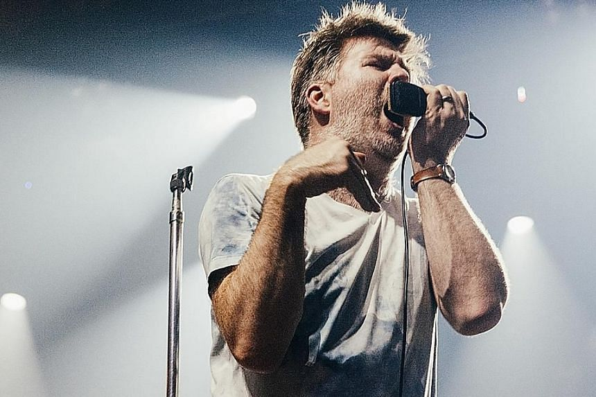 LCD Soundsystem frontman James Murphy performing in New York in August last year. The band will release their fourth album American Dream on Friday.