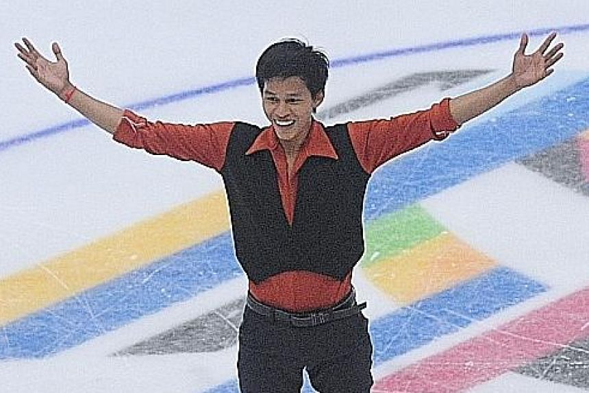 Cambodian figure skaters Bunthoeurn Sen (above) and Panha Khiev are making their international debuts. They each have fewer than five years of experience.