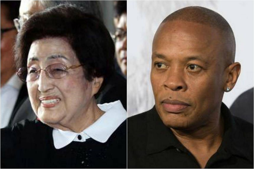 A South Korean man has been fined for spreading rumours online that the 94-year-old widow of late president Kim Dae Jung was to marry US hip-hop legend Dr Dre.