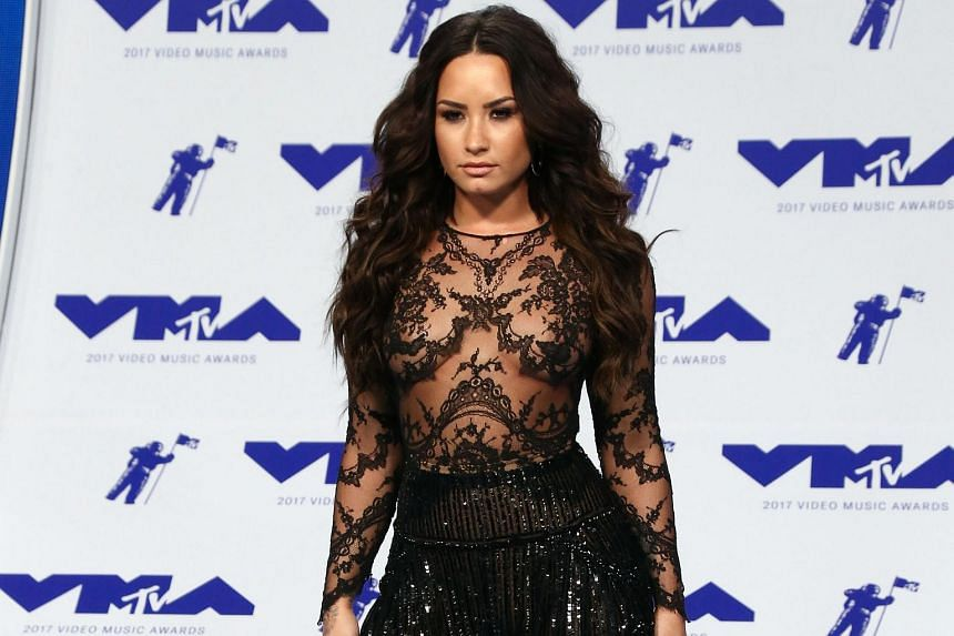 Singer Demi Lovato arrives at the MTV Video Music Awards 2017, in Inglewood, on Aug 27, 2017.