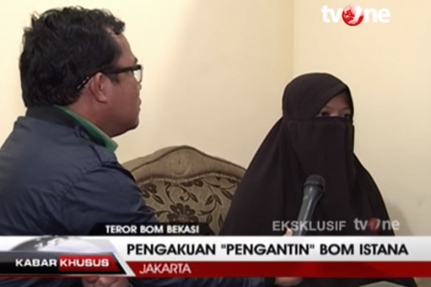 Dian Yulia Novi, 28, was arrested late last year on suspicion of plotting to blow herself up outside Jakarta's presidential palace during the changing of the guard.