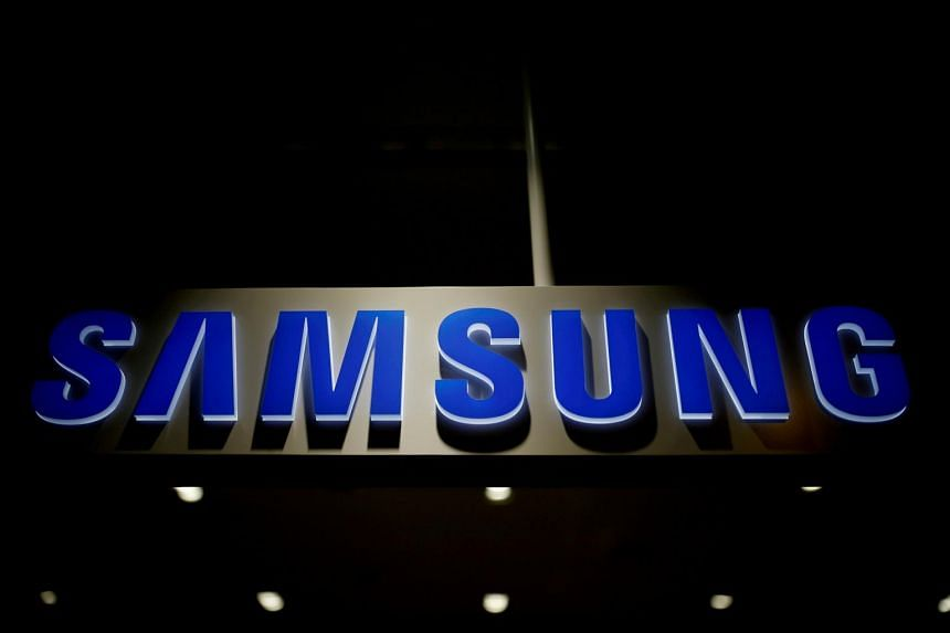 The logo of Samsung Electronics in Seoul, South Korea, on July 4, 2016.