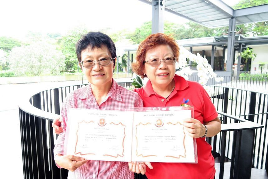 Monica (left) and Margaret Heng, sisters who completed the 21-day Classic Challenge in 1973 and 1972 respectively. PHOTO: NATIONAL YOUTH COUNCIL