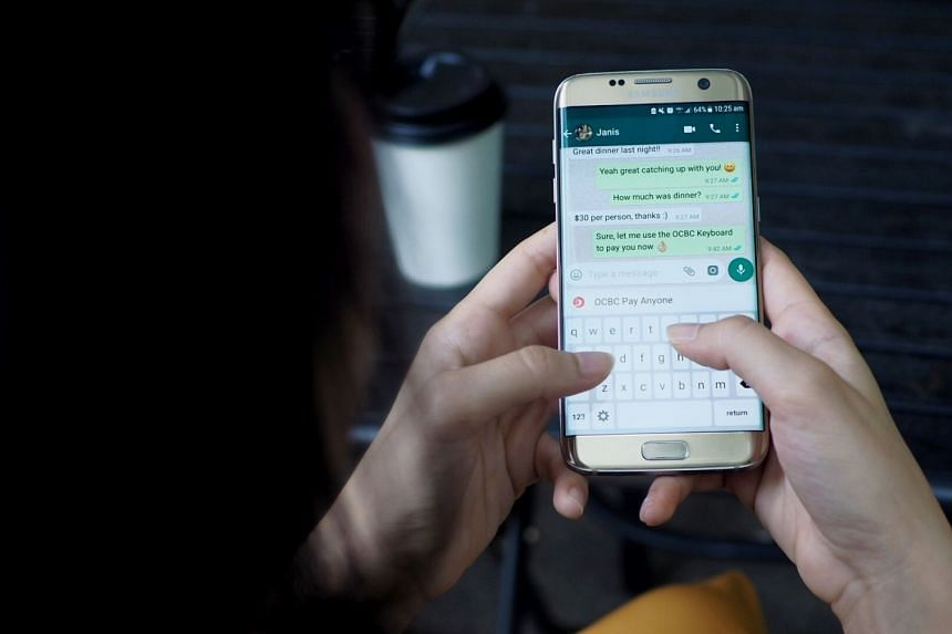 The OCBC Keyboard allows customers to make e-payments to any bank account in Singapore without exiting their current mobile app.