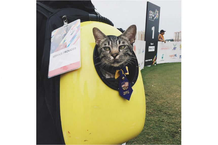 There is a time and place to let the cat out of the bag - during the SEA Games golf competition is not one of them.