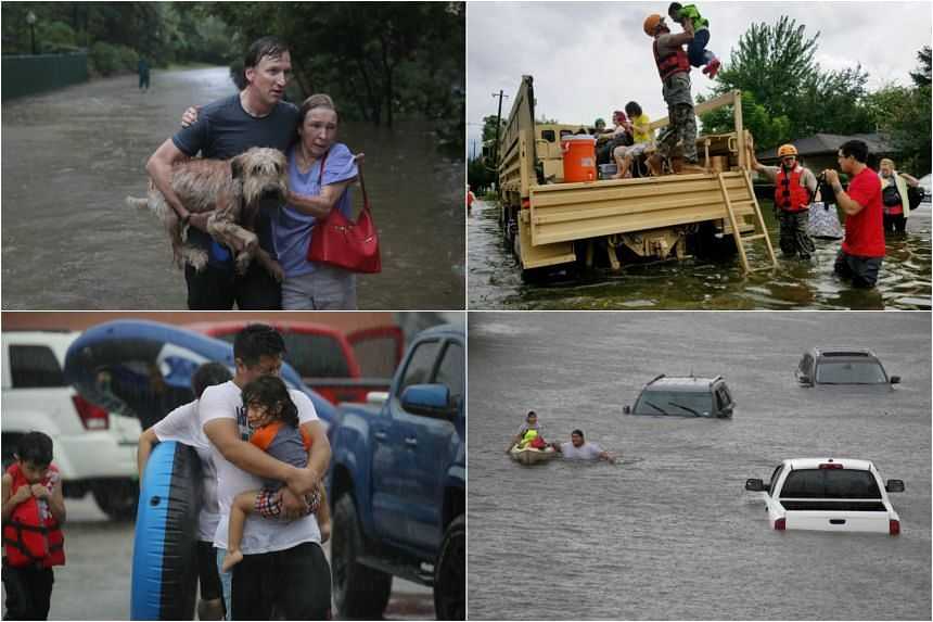 """Tropical Storm Harvey left a deadly trail of devastation along the Gulf Coast, with """"catastrophic"""" floods unleashed after the megastorm."""
