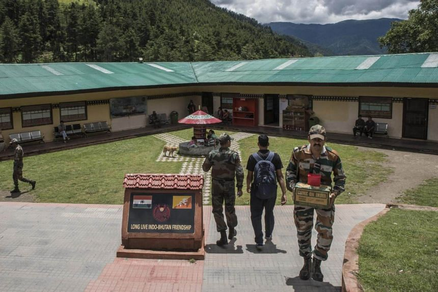 The Indian Army's headquarters in Haa, Bhutan, close to a disputed border with China, on Aug 3, 2017.