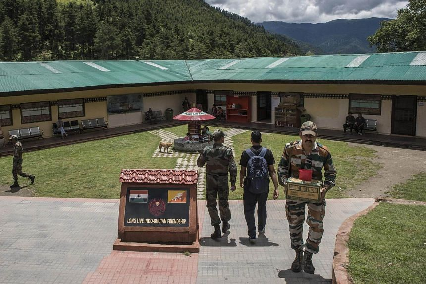 The Indian Army's headquarters in Haa, close to a disputed border with China, on Aug 3, 2017.