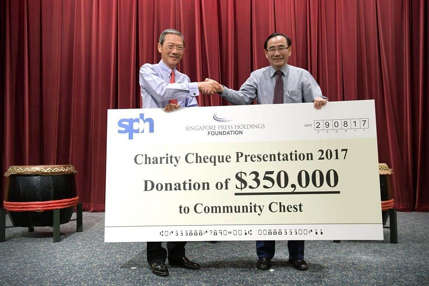 A cheque presentation for the donation was held at the SPH News Centre auditorium, in which about 200 guests attended.