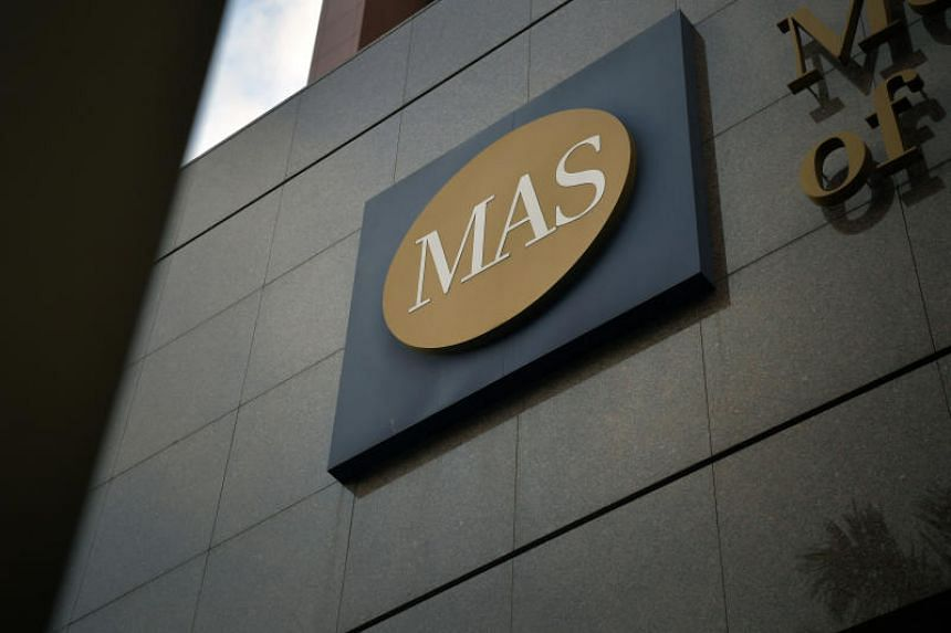 A file picture of the Monetary Authority of Singapore (MAS) building in Shenton Way. PHOTO: SPH