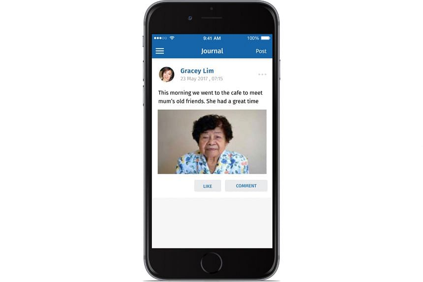 Caregivers can use the eCareApp to create a support network to help them provide better care for people with dementia.