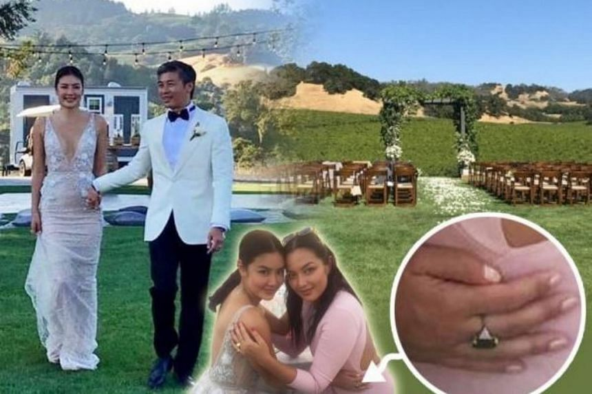 Gaile Lok tied the knot in an intimate ceremony in California last weekend with businessman Ian Chu.