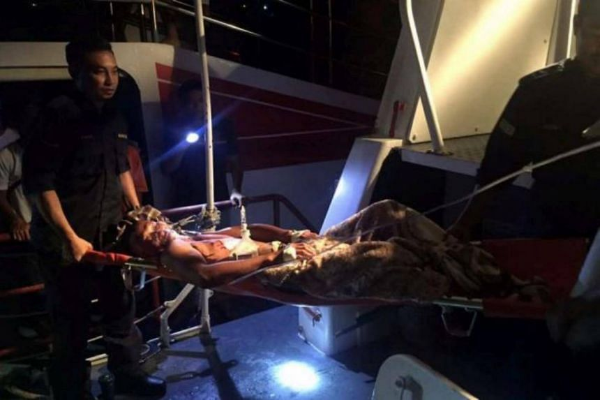 Nursahim Nusiri, 40, was making his usual fishing rounds at about 9pm when the medium-sized reptile attacked him from behind.