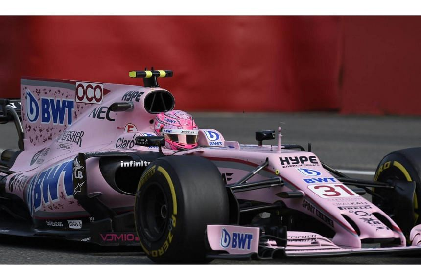 Force India's French driver Esteban Ocon drives during the first practice session at the Spa-Francorchamps circuit in Spa on Aug 25, 2017 ahead of the Belgian Formula One Grand Prix.