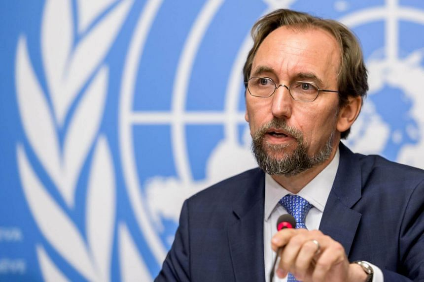 United Nations High Commissioner for Human Rights Zeid Ra'ad Al Hussein delivers a press conference on a report on Venezuela at the UN Offices in Geneva on Aug 30, 2017.