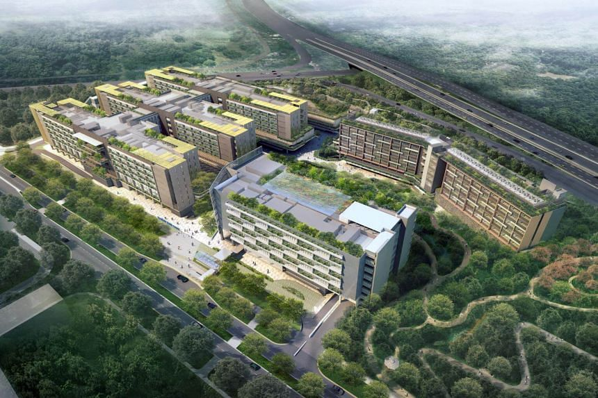 Artist's impression of Woodlands Health Campus that is expected to be completed by the second quarter of 2018.