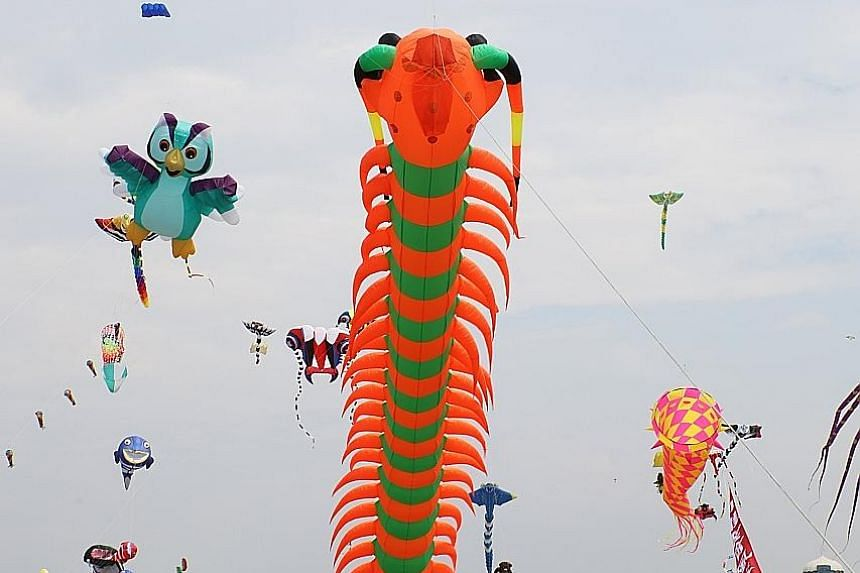 More than 100 kite masters from nine countries and territories took part in the 2017 Hsinchu International Kite Festival held in Hsinchu, western Taiwan, over last weekend. The festival featured kites of varied themes, from TV characters to creatures
