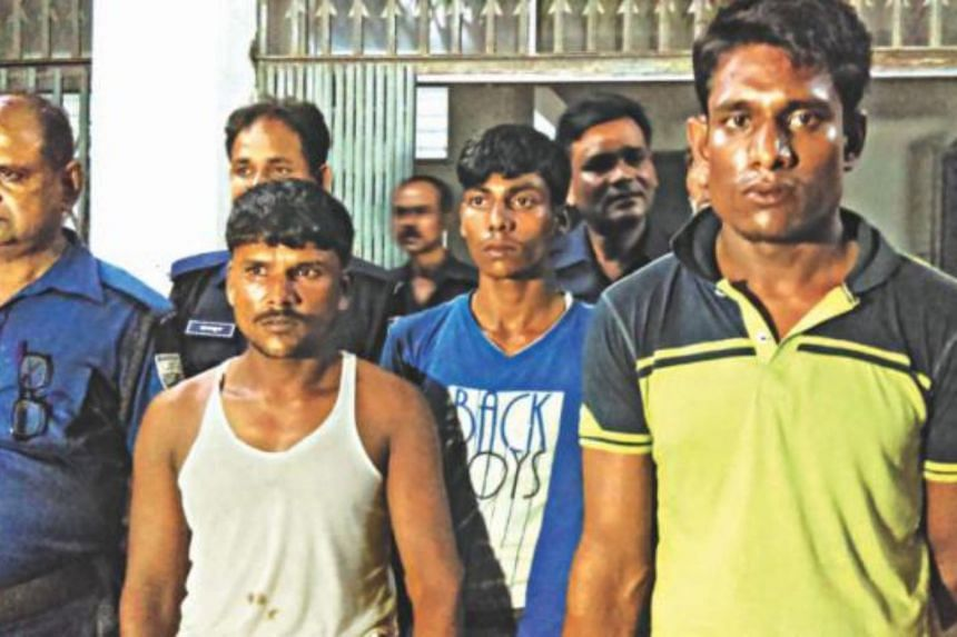 Suspects in the case over the gang-rape and killing of a law student.