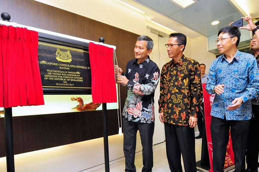 Dr Balakrishnan on Wednesday (Aug 30) officiated at the upgrading of the consulate in Batam to a consulate-general.