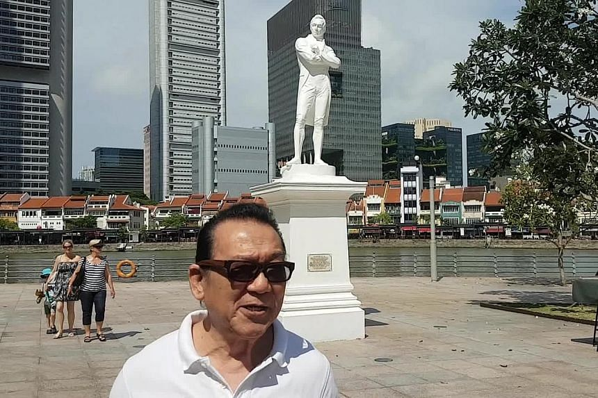 On the site of the old Great World Amusement Park (above), which was featured in Kelvin Tong's 2011 movie It's A Great Great World, is mixed-use development Great World City (below). Mr Peter Chong in a recent photo taken at the Singapore River, a si