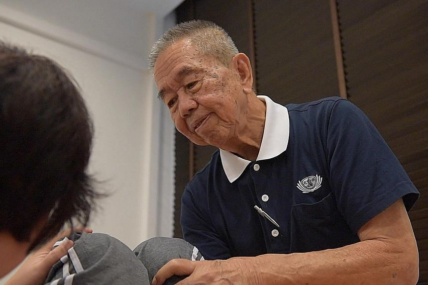 Mr Lock Meng Swee worked as a driver for most of his life but after getting interested in traditional Chinese medicine, he now volunteers at a clinic and rehabilitation centre.