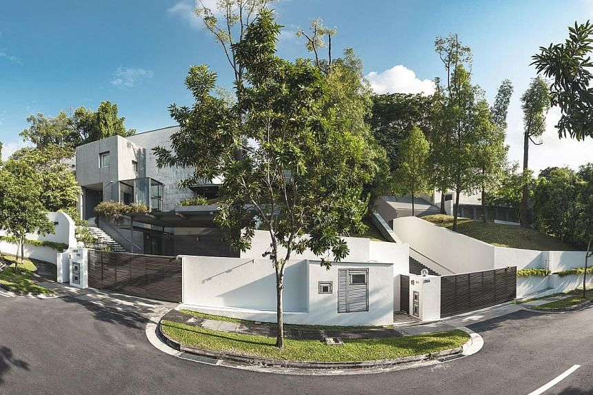 The adjacent bungalows in Peirce Road, near the Botanic Gardens, are being sold together. They are among six bungalows there bought by developer Simon Cheong in early 2006.
