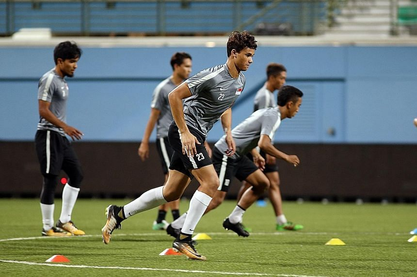Ikhsan Fandi, 18, may be offered the chance to make his Lions debut against Hong Kong and impress coach V. Sundram Moorthy. The striker scored one goal during Singapore's ill-fated campaign at the SEA Games.
