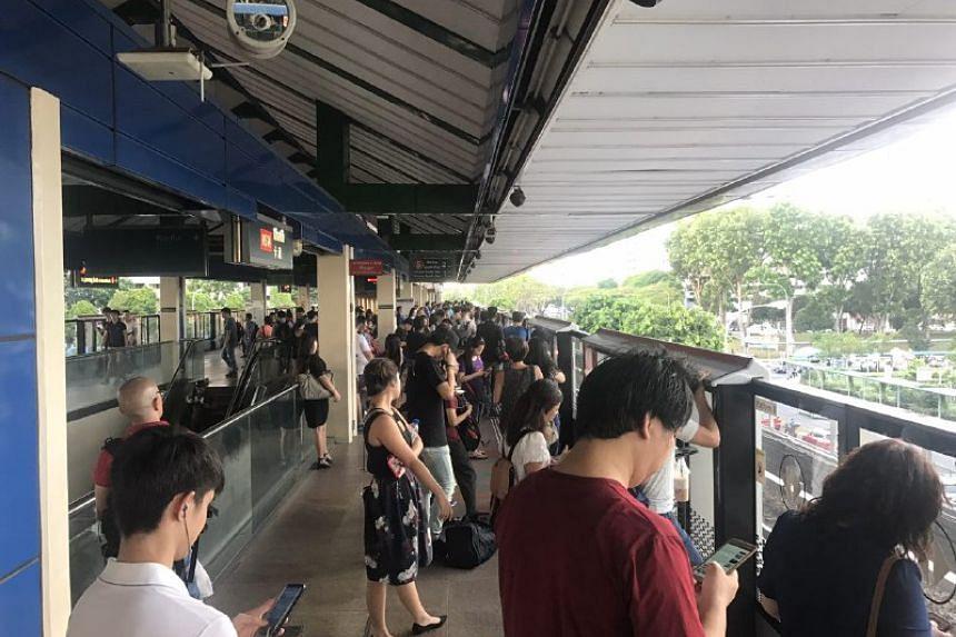 The crowd at Khatib MRT Station around 6.25pm.