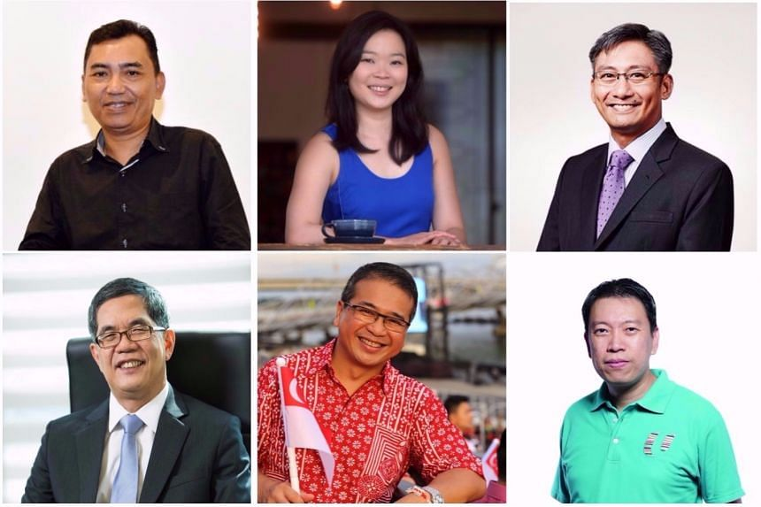 The six new LTA board members are (clockwise from top left) Mr Mohd Sa'at Abdul Rahman; Ms Fiona Chan Su-Min; Mr Cheong Chee Hoo; Mr Melvin Yong; Mr Edwin Tong and Prof Tan Thiam Soon.