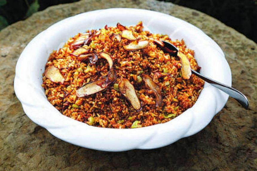 Wild mushroom rice at The Cook at Kerry Hotel Pudong, Shanghai.