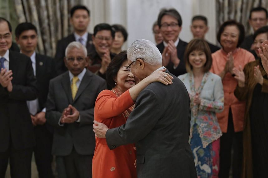 President Tony Tan said his wife, Mrs Mary Tan, brought warmth to the highest office in the land.