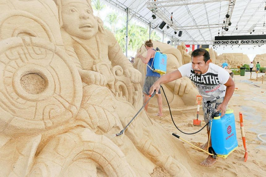 14 world-renowned sand masters from 13 nations across the world, who will be showcasing their creative sand works around the theme, imagination at Sentosa Sandsation.