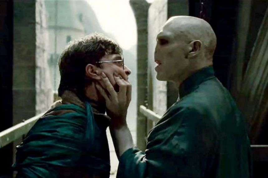 "A picture still from Harry Potter And The Deathly Hallows Part 2, starring Daniel Radcliffe and Ralph Fiennes. Residents in Yishun have received threatening letters signed off as ""Lord Voldemort""."