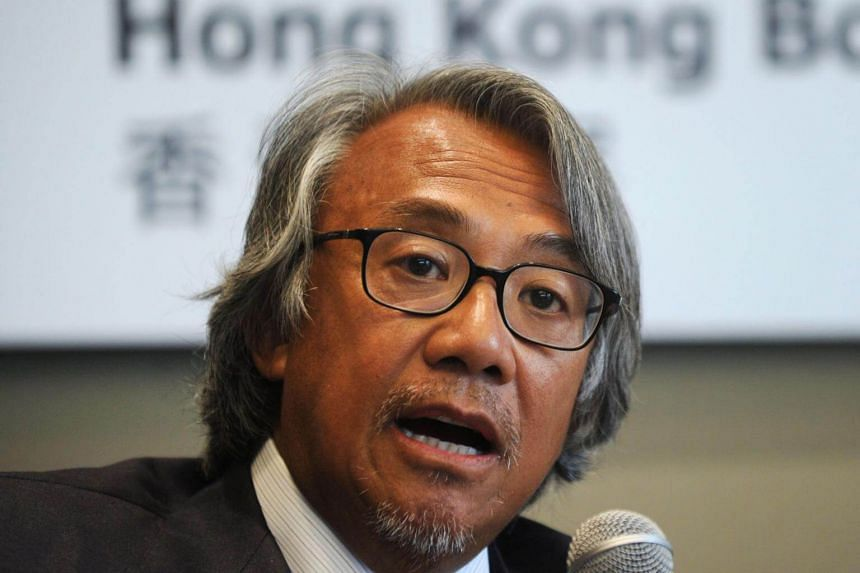 David Tang speaking at a press conference in Hong Kong on July 23, 2010.