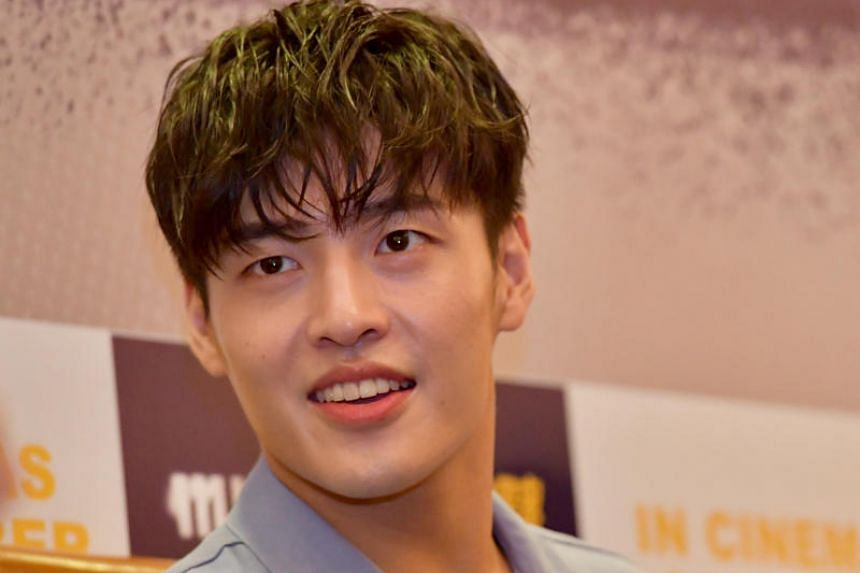 Rising actor Kang Ha Neul, known as Mr Nice Guy of the South Korean entertainment world, can remember the name of every single crew member when he is working on a production. ST PHOTO: DESMOND FOO