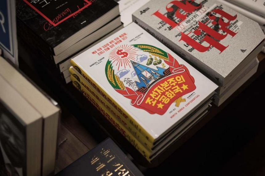 A Korean edition of the book, North Korea Confidential, displayed in a bookstore in Seoul on Aug 31, 2017.