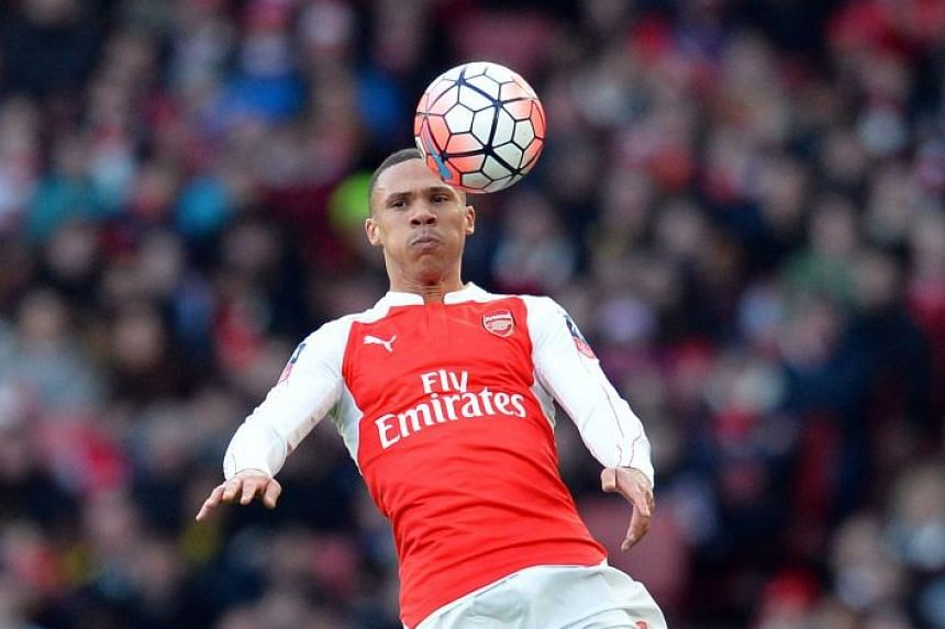 A 2016 file photo shows Kieran Gibbs in action for Arsenal.