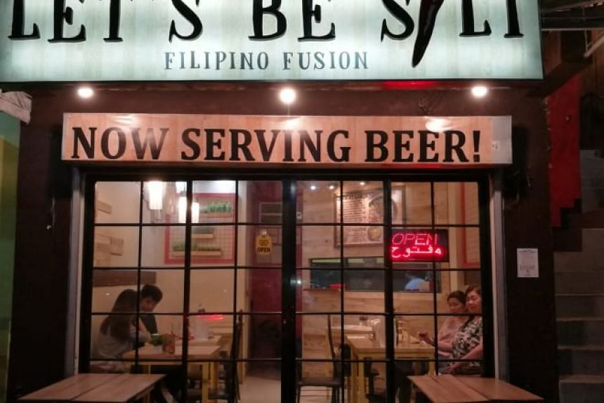 Let's Be Sili at the Maginhawa Street food row in Quezon City.