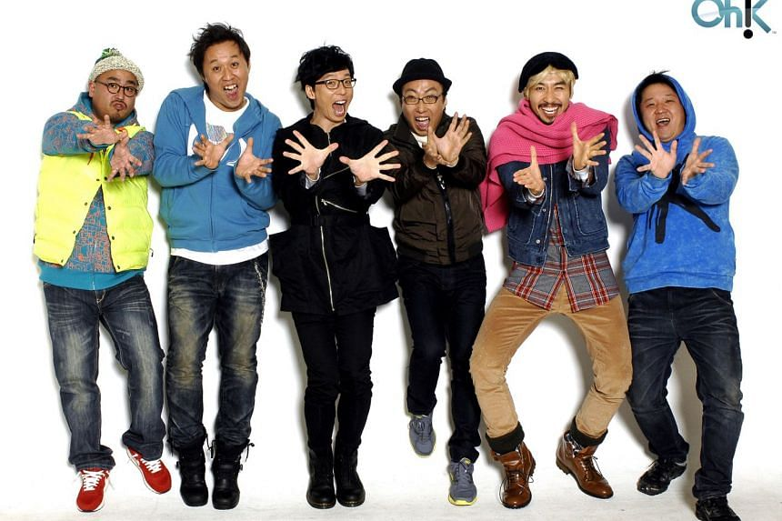 The 2014 cast of the variety show Infinite Challenge. PHOTO: STARHUB