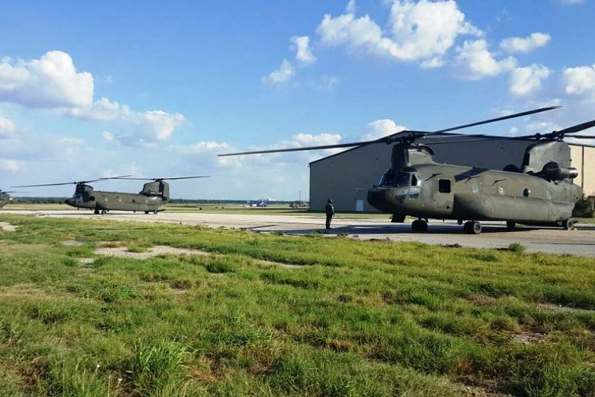 The RSAF's Chinooks from the Peace Prairie detachment getting ready for their next tasking.