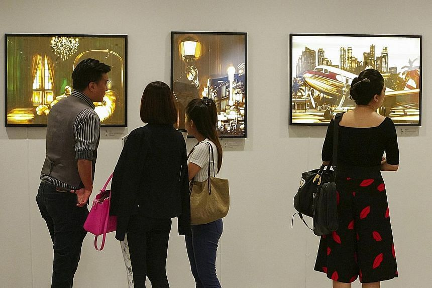 Visitors at an earlier edition of the Affordable Art Fair Singapore.