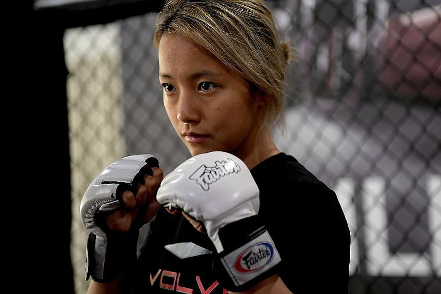 Song Ka Yeon has joined the Singapore-based Evolve Fight Team and trains at the Evolve Mixed Martial Art gym in China Street five to six days a week.