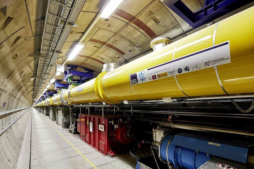 The European X-Ray Free Electron Laser, built at a cost of €1.5 billion (S$2.4 billion), is lodged in a series of tunnels up to 38m underground near Hamburg, Germany.