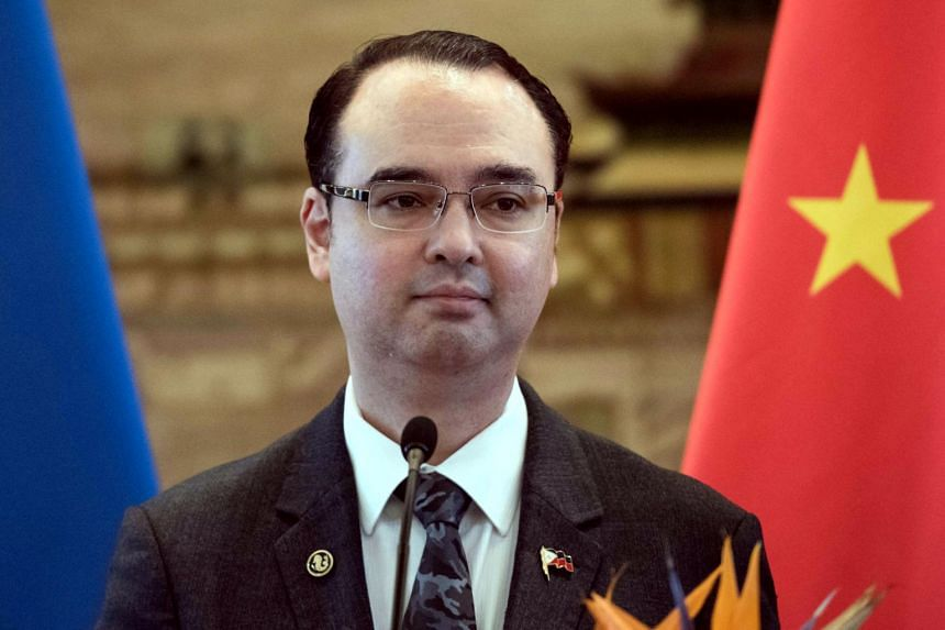 Philippines Department of Foreign Affairs secretary AlanPeter Cayetano at a press conference at the Ministry of Foreign Affairs in Beijing on June 29, 2017.
