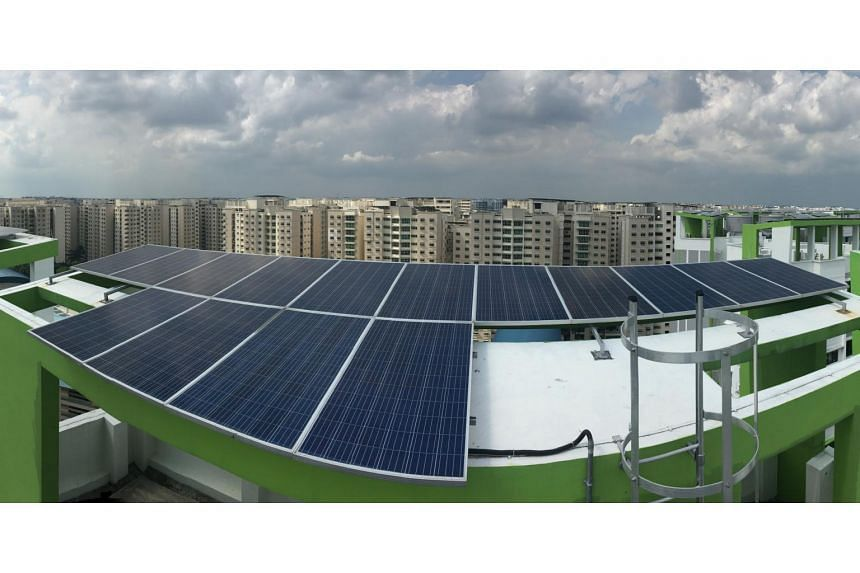 The solar-ready roofs piloted at Punggol Edge BTO project were inbuilt with infrastructure to enable seamless installation of solar panels to harness renewable energy for block services.