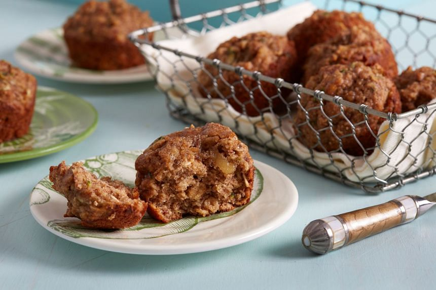 These flavourful zucchini oat muffins are a good energy booster for breakfast or tea. PHOTO: STACY ZARIN GOLDBERG/THE WASHINGTON POST