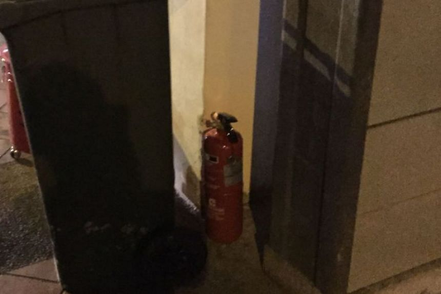 The fire extinguisher used by the two men.