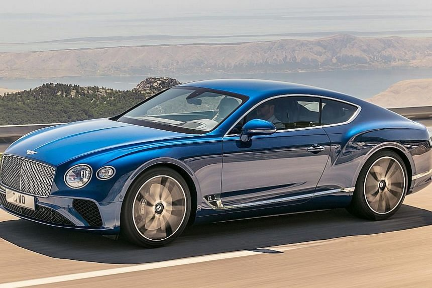 The new Continental GT reaches 100kmh in 3.7 seconds and has a top speed of 333kmh.