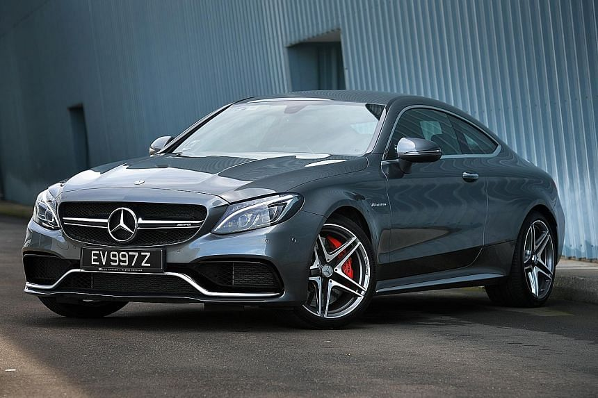 The Mercedes-AMG C63 S Coupe is a muscular two-door with a performance commensurate with its sporty visual cues.